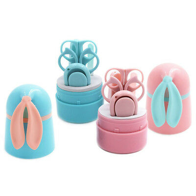 5PCS/Set Plastic Stainless Steel Nail File Manicure Tool Cute For Newborn Babies