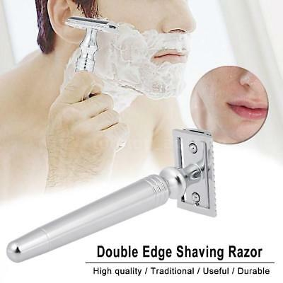 Men's Traditional Classic Double Edge Stainless Steel Shaving Safety Razor U3G6