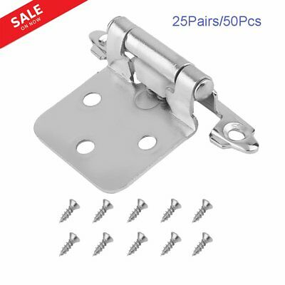 40PCS 20 Pairs Antique Brass Self Closing Flush Face Mount Cabinet Hinge