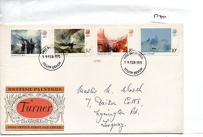 GB - FIRST DAY COVER - FDC -1740- SPECIALS -1975 - JMW TURNER - pmk - Sth Devon