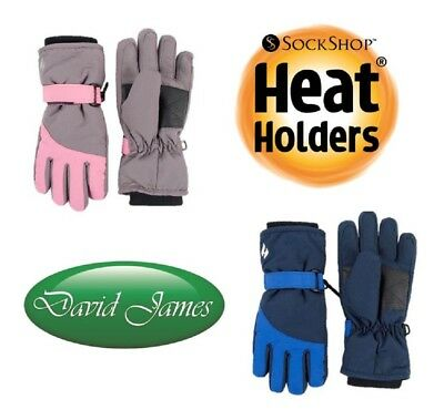 Kids Boys Girls Heat Holders Tog Thermal Winter Warm Performance Gloves 5-10 Yrs
