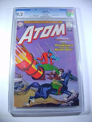 The Atom #6  Cgc 9.2 Nm-  White Pages!  2Nd Time Pool Story Dc 1963