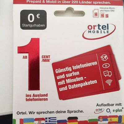 Europe Prepaid Sim Card payg ORTEL - up to 11 GB data with 4G / LTE speed