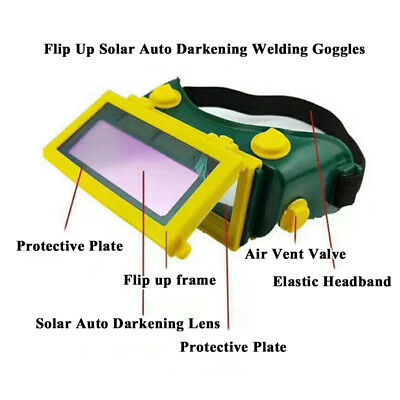Solar Powered Welding Mask Goggles Helmet Glasses Fully automatic Goggle New