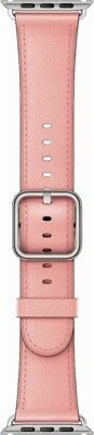 Genuine Apple 38mm Classic Buckle - Soft Pink Leather Watch Band  - VG - In Box