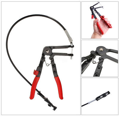 """Pro 24"""" Flexible Hose Clamp Pliers Locking Tool Fuel Oil Water 2FT Long Reach"""