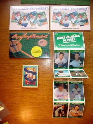 Lot New Baseball Sluggers & Legends Postcards (3 Sets) / HOF Heroes & MVP Cards