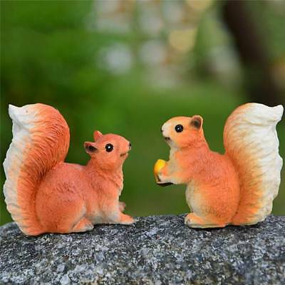 1Squirrel Garden Statue Home Decor Lawn Patio Yard Ornament Figurine Outdoor Art