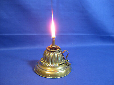 Antique Victorian Brass Table Oil Lamp