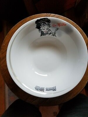 Betty Boop Eat My Dust - Born Wild Bowl. Still In Box Never Used