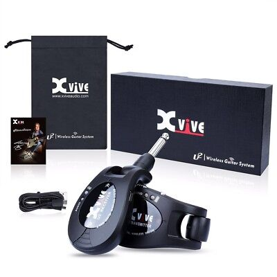 XVIVE U2 BLACK Wireless System Electric Guitar Live Stage Transmitter Receiver