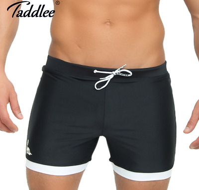 d22f02c449 New Taddlee Brand Men's Swimwear Solid Color Basic Traditional Long  Swimsuits