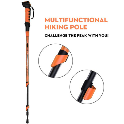 Selfie Bluetooth Call Multifunctional Hiking Poles Trekking with Mobile Power US