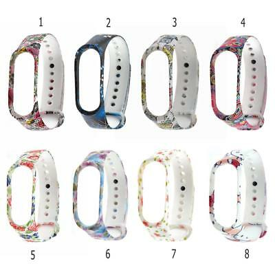 7Styles Soft Silicone Smart Watch Band Bracelet Wrist Strap For Xiaomi Mi Band 3