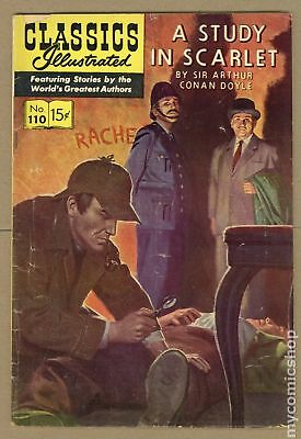 Classics Illustrated 110 A Study in Scarlet #1 1953 GD+ 2.5