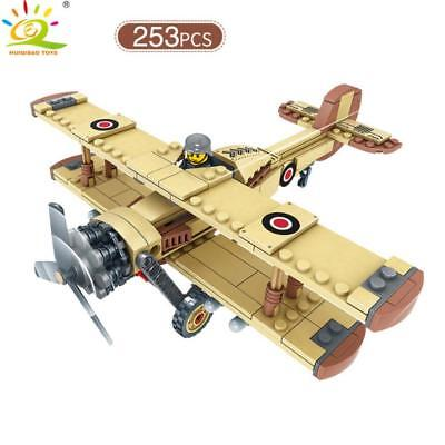 Swordfish Attack aircraft Torpedo Bomber Model Building Blocks with Soldiers