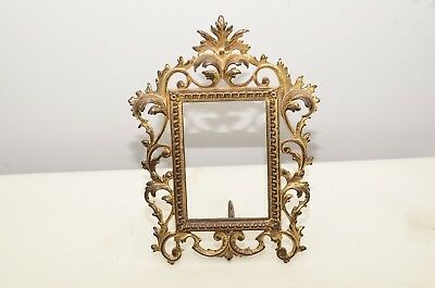 Antique Cast Iron Ornate Gilded Rococo Easel Picture Frame - Number On The Back