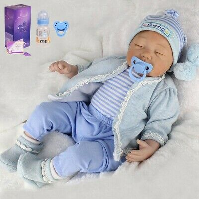 Reborn Newborn Dolls Toddler 22'' Lifelike Vinyl Silicone Baby Boy Doll Gift Toy