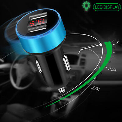 Mobile Phone 3.1A Dual USB Car Charger Adapter LED Display Fast Charge 2018 Hot