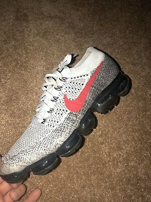 4a7356b7a8f Nike Air Vapormax Flyknit Heritage OG Pure Platinum Red Size 11  Rare849558-020