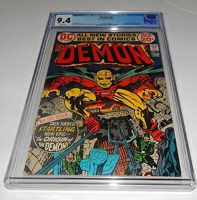 Demon #1 CGC 9.4 WHITE PAGES 1st Etrigan the Demon Kirby