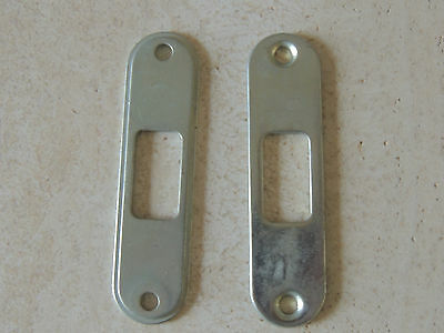 "Metal Steel 2 pieces 4 inch  long 1"" wide 1 1/8 opening  plate flat metal sheet"