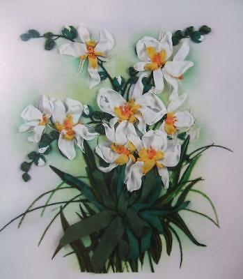 Panna Printed Satin Stitch Ribbon Embroidery Stumpwork Kit JK-2048 Daffodils