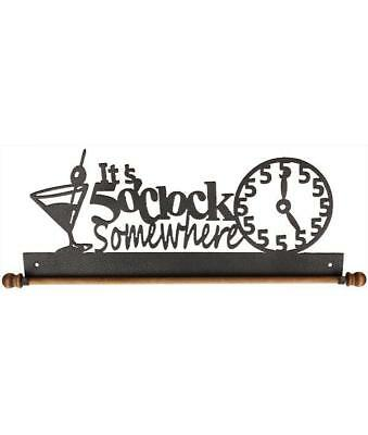 Ackfeld 30.5cm 5 o' Clock Somewhere Metal Pared Manualidades Edredón Textil