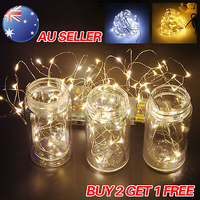 2-10M Battery Powered Copper Wire String Fairy Xmas Party Lights Warm White Gift