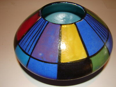 Fat Lava '60s Keramik UFO Pottery Vase Bodo Mans Reims for Bay from West Germany
