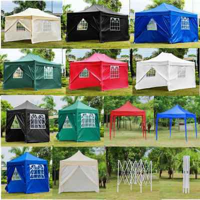 Pop Up Garden Gazebo Marquee Party Tent Wedding Shade Sun Rain Canopy Heavy Duty