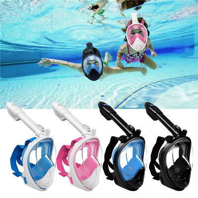 Full Face Snorkel Mask Swimming Scuba Diving Goggles Snorkeling Set For GoPro AU