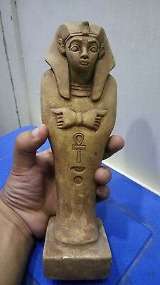 RARE ANCIENT EGYPTIAN ANTIQUE RAMSES USHABTI Statue Limestone 1960-1810 BC