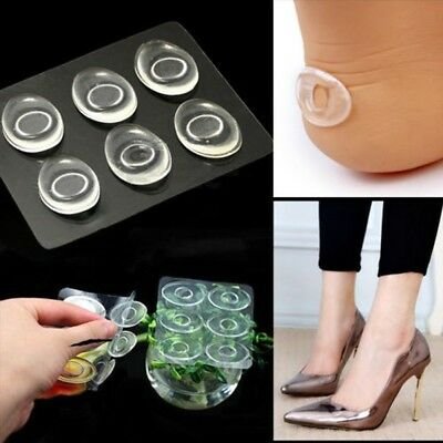 6x Foot Care Silicone Inserts Pad Gel Shoe Insole Heel Grips Liner Cushion 8b3716e97718