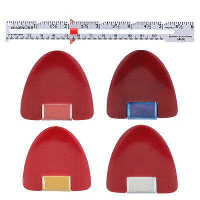 1Pcs Metal Sewing Knitting Gauge for hems seams + 4Pcs Fabric Marking Chalk