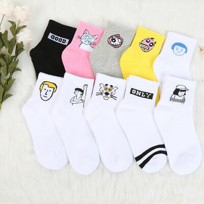 Kawaii Women Cute Pattern Soft Breathable Ankle-High Casual Cotton Socks
