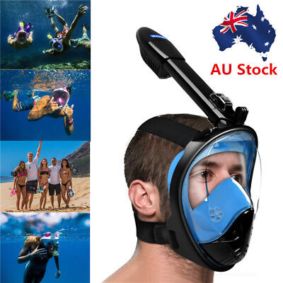 2018 New Full Face Snorkel Mask Swimming Diving Breath Scuba For GoPro L/XL/S/M