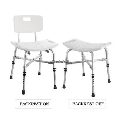 Us Stock Commercial Furniture 100% True Elderly Bath Shower Chair Aluminum Alloy Medical Transfer Bench Ergonomic Old People Bathroom Armchair Cst-3052 White Shampoo Chairs
