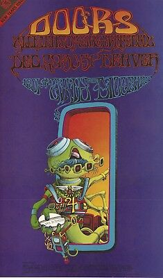 MINT Doors Rick Griffin 1967 FD D18 New Years Eve Family Dog Denver Poster