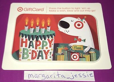 Target Gift Card 2011 Happy Birthday Light Up Cake Candles No Value