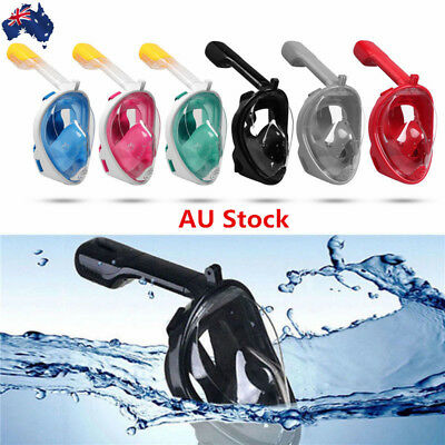 Full Face Mask Swimming Diving Snorkel Scuba Underwater Breath Tool For GoPro AU