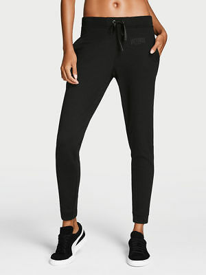 Victoria's Secret SPORT Pant Slouchy Jogger Black w/pocket Cozy Comfy MEDIUM NWT