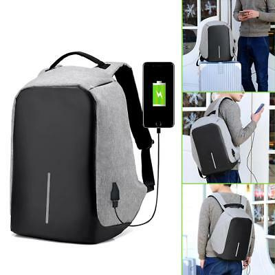 Waterproof Anti-Theft Laptop Bag Backpack Travel School Bag w/ USB Charger Port