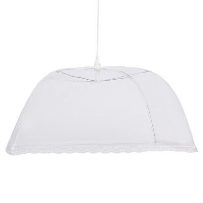 Anti-Dust Food Cover Tent Umbrella Collapsible Cake Covers Lace Mesh Useful 8C