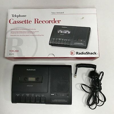 Radio Shack TCR-200 Voice Activated Telephone Cassette Recorder