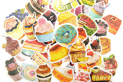 50 pieces Birthday Party cake Stickers Pack for junk bullet journal notebook