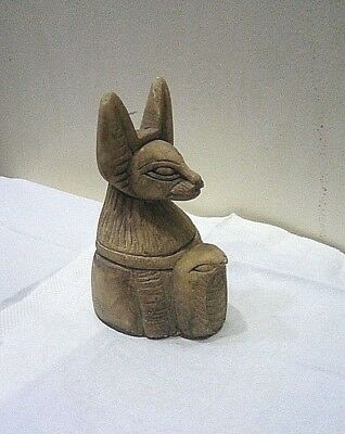 ANCIENT EGYPTIAN ANTIQUE ANUBIS With Snake 1830-1620 BC