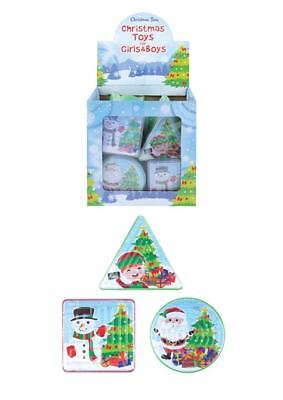 3 - 50 Xmas Christmas Puzzle Mazes Retro stocking party bag filler santa snowman