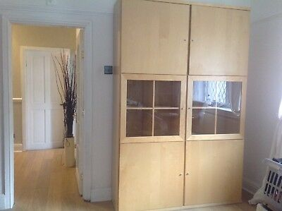 2 Tall Wall Units IKEA light coloured £35 each or £60 for both