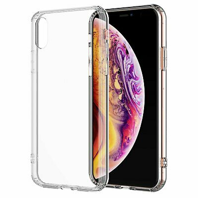 For iPhone XS Max Clear Transparent Case Shock Absorption TPU Soft Cover